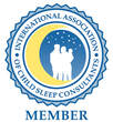 international association of child sleep consultants member logo